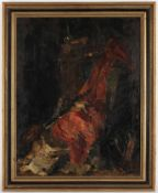 Unbekannter Künstler, um 1900'Interieur', Öl/Lwd., 63 x 50 cm (Fi)