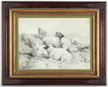 Eugène Verboeckhoven, l.u.sig.Warneton 1799 - 1881 Schaerbeek, 'Schafe auf der Weide', Tus