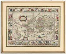Willem Blaeu, i.Dr.sig.Alkmaar 1571 - 1638 Amsterdam, 'America', Kupferstichkarte, teil