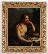 Unbekannter Künstler, 19.Jh.'Hl. Magdalena', Öl/Lwd., 50 x 41 cm, restauriert, Druckstell