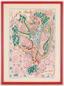 Jean Cocteau, r.u.i.St.sig., dat. 1958Maisons-Laffitte 1889 - 1963 Milly-la-Forêt, 'Lions