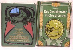 """""""Schreinerhandwerk"""". Zwei Bücher. Dabei: """"Das Schreinerbuch"""". Die Möbelschreinerei, Th."""