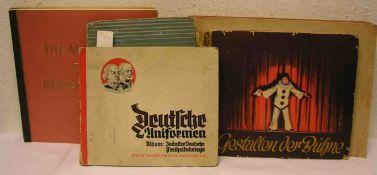 """Sieben Cigarettenbilder-Alben. Dabei: """"Deutsche Uniformen"""""""