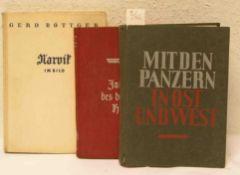 """Drittes Reich: Drei Bücher. Dabei: """"Jahrbuch des deutschen Heeres, 1936"""", Böttger: """"Narvik"""