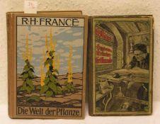 """Zwei Bücher. Dabei: R.H. Francé: """"Die Welt der Pflanze"""". Ullstein 1912, H. Mayer: """"Hygiene"""