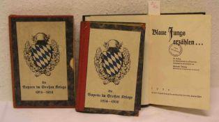 """!. - II. Weltkrieg: """"Die Bayern im Großen Kriege 1914 - 1918""""; Böhmig Gerhardt: """"Blaue"""