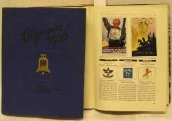 """""""Die Olympischen Spiele 1936"""". Band 1 und 2. Cigaretten-Bilderdienst Hamburg-Bahrenfeld."""