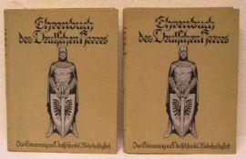 """""""Ehrenbuch des Deutschen Heeres"""". Band I und II, Berlin 1928"""