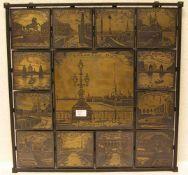 Leningrad - Ansichten. Dekorative Druckplatten in Metallumrahmung. 46 x 46cm.