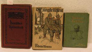 """Posten von drei Büchern. Dabei: Momma, Wilhelm: """"Der jüngste Rekrut"""", """"Bismarck-Anekdoten"""""""