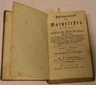 """Johann Christian Polycarp Erxleben: """"Anfangsgründe der Naturlehre"""". Göttingen 1794."""