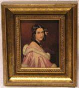 """Stieler, Joseph, Karl (1781 - 1858): """"Lady Jane Erskine"""". Farbdruck, 11,5 x 9cm, kleinerFleck,"""