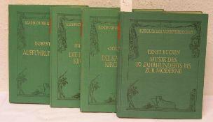 Handbuch der Musikwissenschaft, vier Bände. Dabei: Büchen Ernst, Musik des 19.Jahrhunderts bis zur