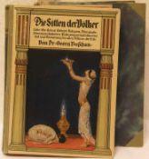 """Buschan, Dr. Georg: """"Die Sitten der Völker"""". Band 1. Dazu: """"Das deutsche Volk in Sitte undBrauch""""."""