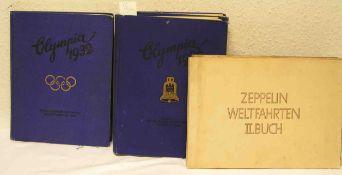 Posten von sechs Zigarettenbilder-Alben. Dabei: Olympia 1936, Zeppelin usw.
