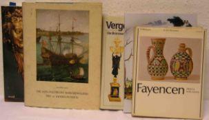 """Posten von fünf Kunstbüchern. Dabei: Laurens J. Bol: """"Die holländische Marinemalerei des17."""