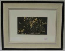 "Kandinsky Wassily: ""Promenade"". Holzschnitt, 1906 aus ""Les Tendances Nouvelles"". 15 x24cm, Rahmen"