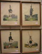 Bergmannstrachten, 4 Blatt kolorierte Federlithos. Dabei: Annaberger Bergwardein. 25 x
