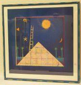"""Wagenführ, Mara, deutsche Malerin, geb. 1976 Erlangen: """"Komposition in Blau""""."""