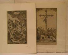 Zehn Kupferstiche, religiöse Motive. Dabei als Kupferstecher: Johann Rudolph Störcklin,