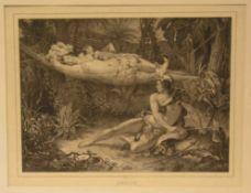 """Maurin, Nicolas, Eustache ( 1789 Perpignan - Paris 1850): """"Familie wird vom Löwen"""