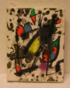 """Joan Miró: """"Der Lithograph"""" II 1953 - 1963, Weber, Genf. Fünf kleine und sechs"""
