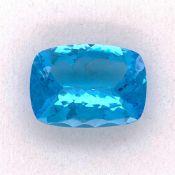 Blautopas Blautopas Swiss Blue 38,93 ct facettiert oval 25,05 x 18,08 h 10,51