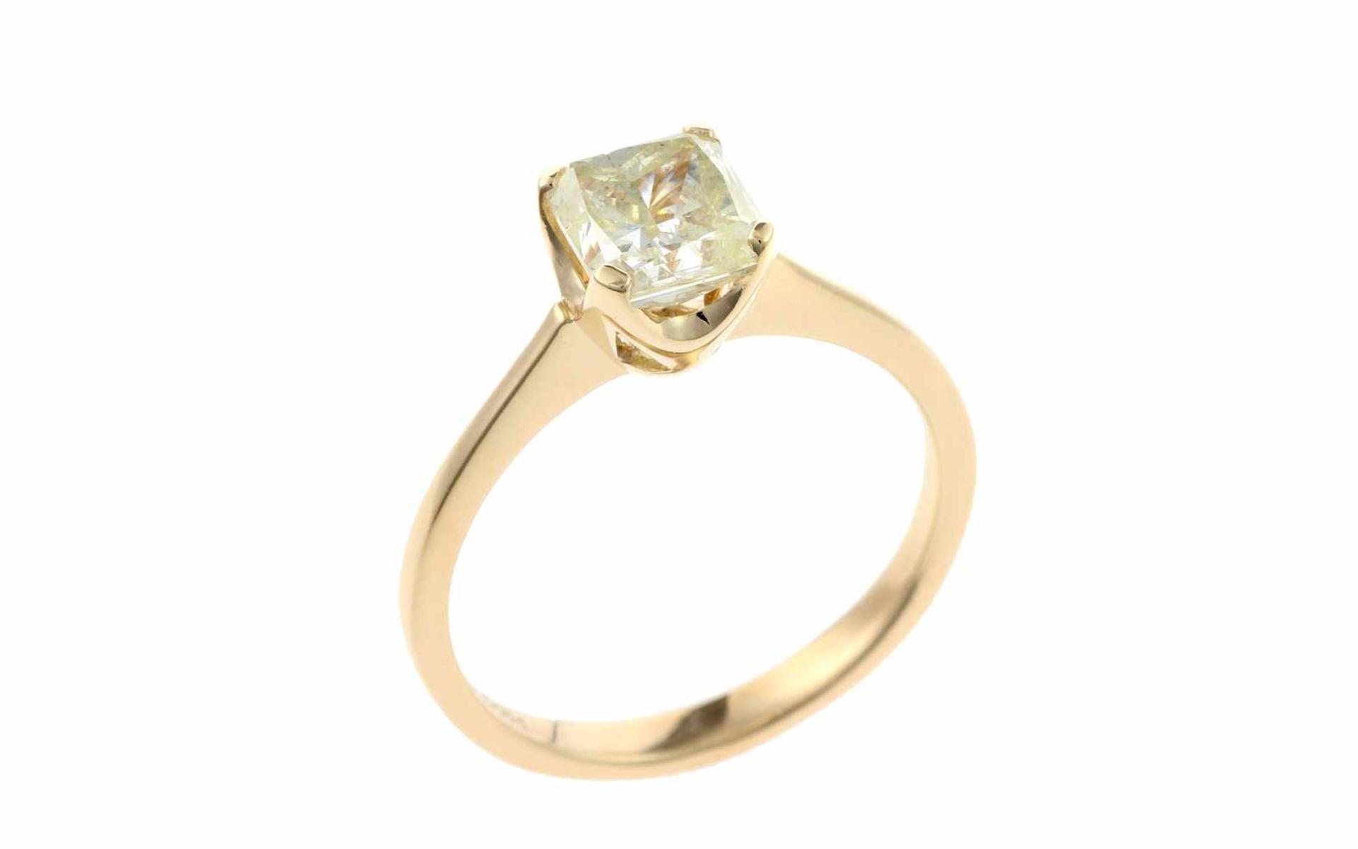 SolitärringSolitär Ring 18K GG mit 1,51 ct Diamant M/p2 RW: 55 Total 3,20 gr