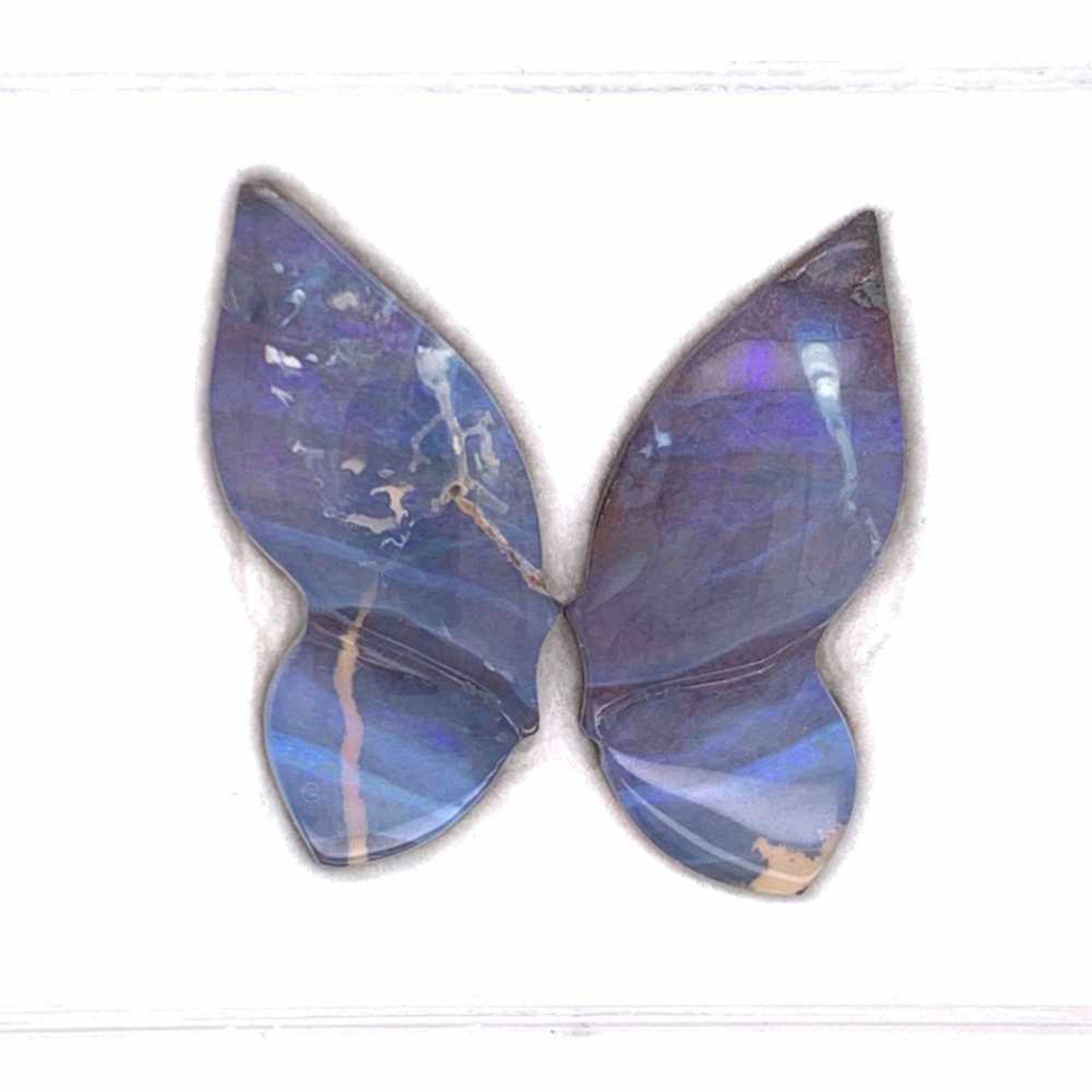 BoulderopalBoulderopal Schmetterlingsschliff zweiteilig 16,06 ct