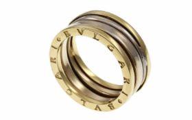 RingRing 585/- Gelbgold und Weißgold, Ringgröße ca. 53, 4,80g