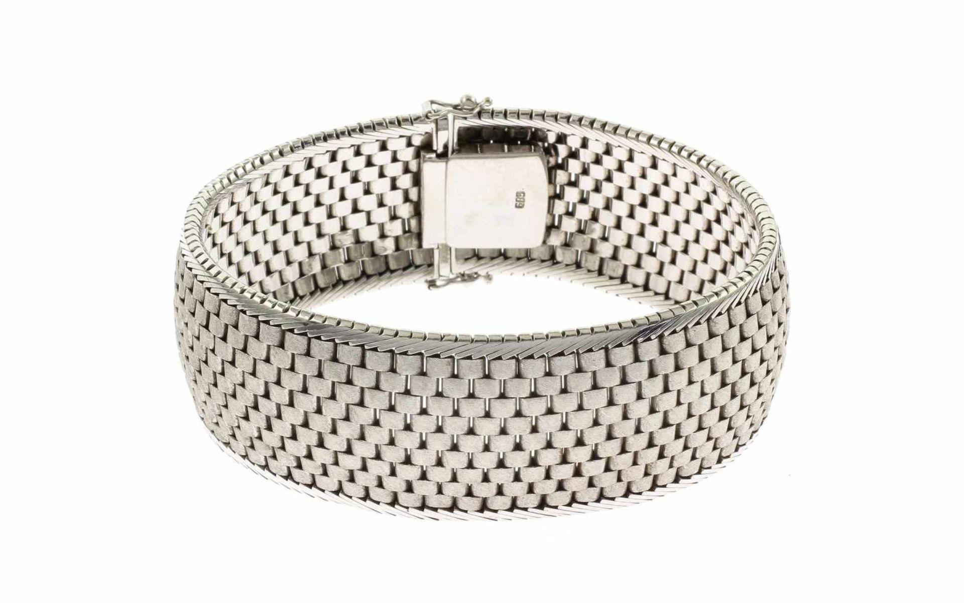 Los 3 - ArmbandArmband 585/- Weißgold, Länge ca. 19,00 cm, 64,33g
