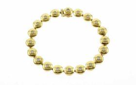 TennisarmbandTennisarmband 585/- Gelbgold mit Diamanten, Länge ca. 20,00 cm, ca. 1,00 ct, G/si, 20,