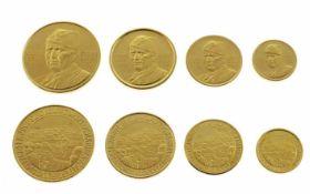 Vier Medaillen4 div. Medaillen 900/- Gelbgold, 30,51g