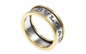 RingRing 585/- Gelbgold und Weißgold, Ringgröße ca. 58, 7,50g