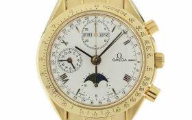 ArmbanduhrOmega Golden Gate Chronograph Ref. 1150BA1750034CS Automatik 750/- Gelbgold, Geschlecht: