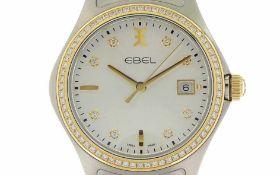 Armbanduhr Ebel Wave Ref. 1216337 Quarz 750/- Gelbgold/Edelstahl, Geschlecht: Herren, Jahr