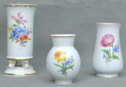 Konvolut drei Vasen