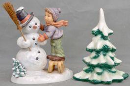 Knabe mit Schneemann