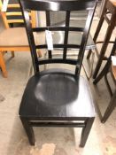 Black wood chair with picture frame back