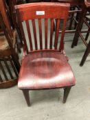 Assorted school house chairs