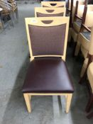 Wood chair with padded seat and back