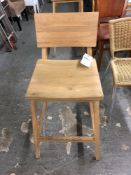 Wood counter height barstool