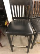 Assorted black stools and chair