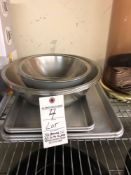 S/S Bowls and sheet pans