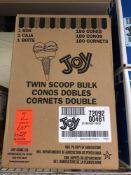 Joy Twin Scoop Cones