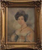Damenporträt nach links um 1900<