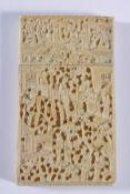 Feines Elfenbein Visitenkarten-Etui, China 19. Jahrhundert