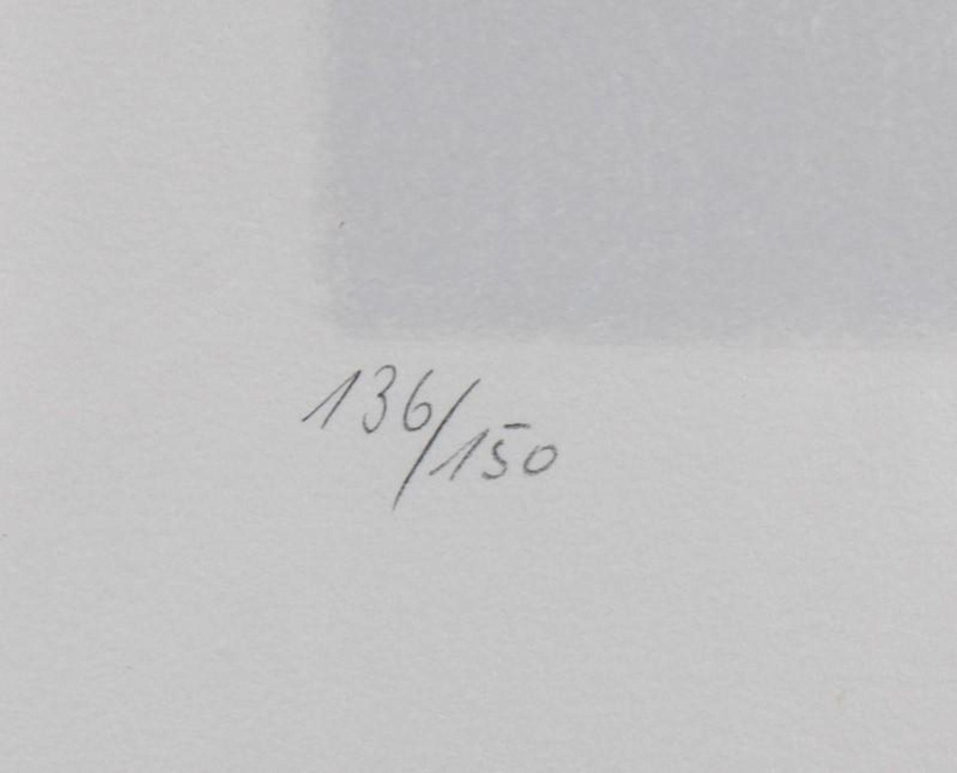 Max AckermannFarbserigraphie, Blatt 136/150, unten rechts mit Bleistift signiert und datiert 1974, - Bild 2 aus 3