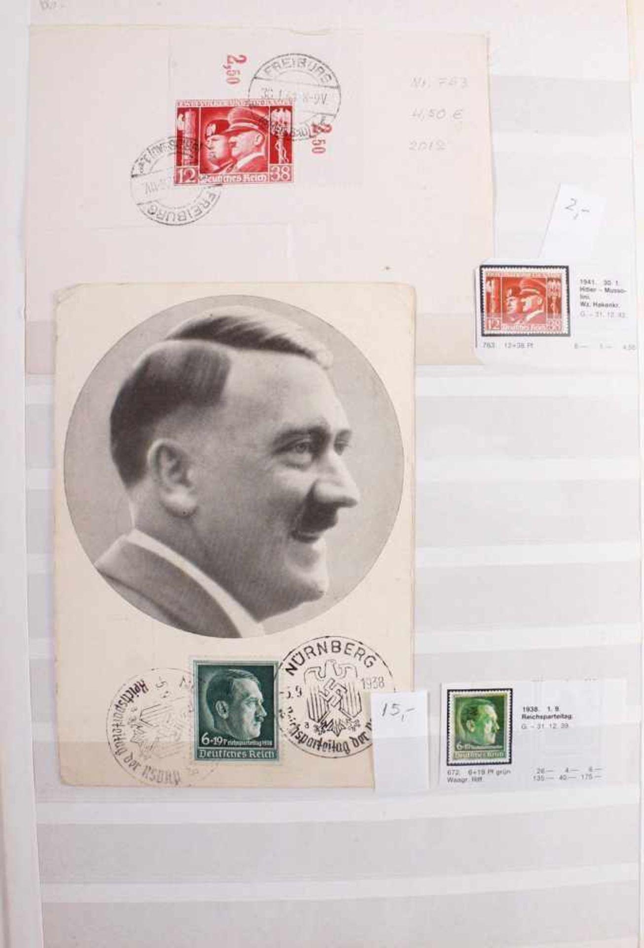 Kleine Sammlung Belege, Ganzsachen und BriefeInsgesamt 3 gut gefüllte Alben.1 Album Briefe, - Bild 3 aus 7