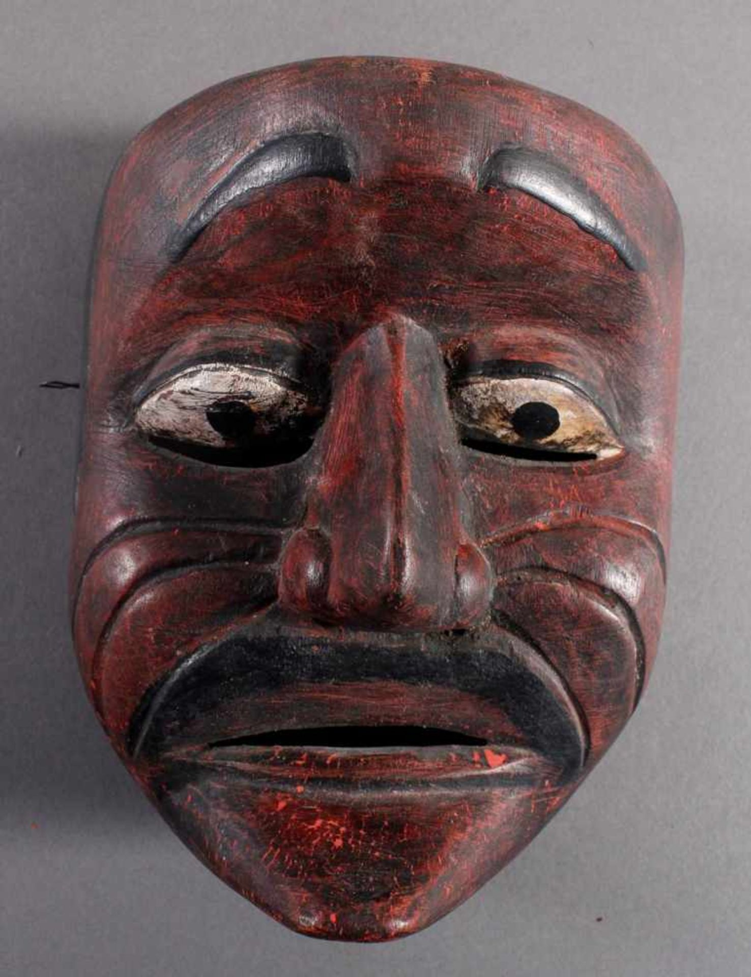 Indonesische Marionette und Maske aus der 1. Hälfte des 19. JahrhundertsGlieder und Kopf der - Bild 6 aus 11